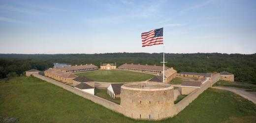 Color image of restored Historic Fort Snelling, c.2008.