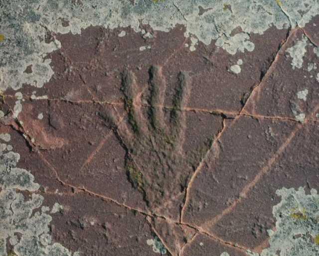 Hand Petroglyph