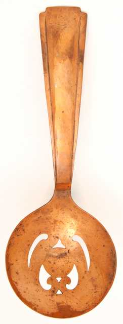 Arts and Crafts style copper spoon