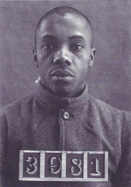 Black and white photograph of inmate believed to be Houston Osborne, c.1895.