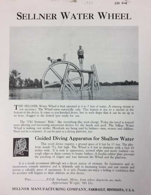 Water Wheel advertising brochure