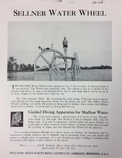 Water Wheel advertising brochure