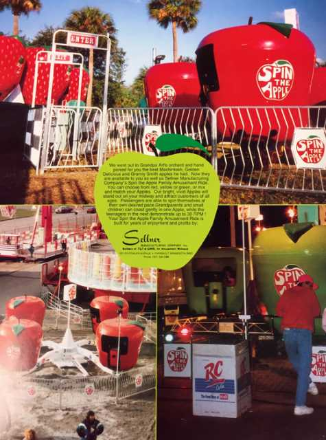 Advertising brochure for Spin the Apple