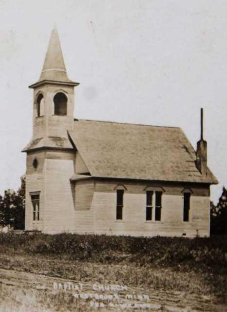 Black and white photograph of Calvary Baptist Church, 1901.