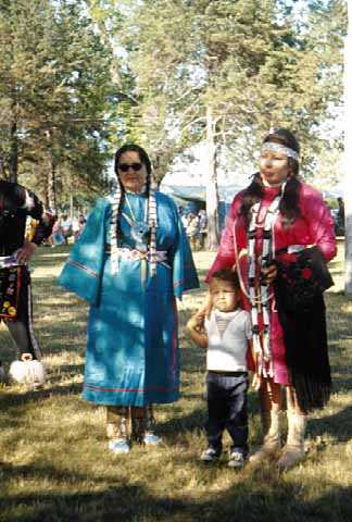 Participants at a powwow organized by the Prairie Island Dakota community and held on July 13, 1969. Photographed by Monroe P. Killy.