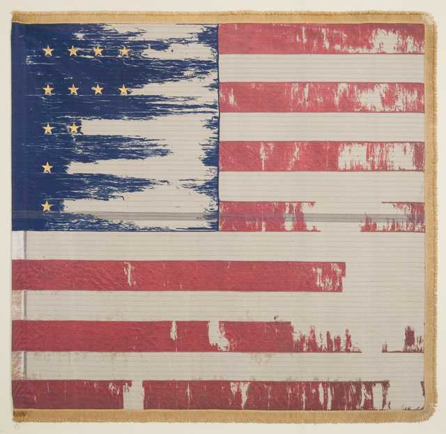 image of battle flag carried by the Ninth Minnesota Volunteer Infantry