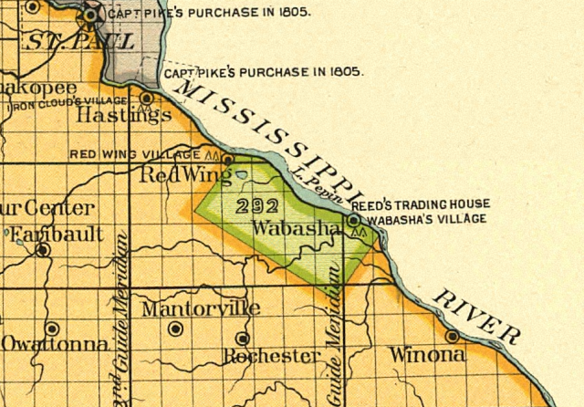 "Map detail showing the location of the ""Half-Breed"" Tract"