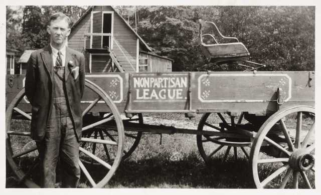 Black and white photograph of Nonpartisan League member Theodore G. Mattson, c.1918.