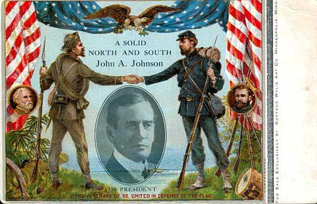 John Johnson campaign poster, 1908