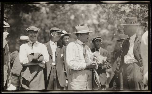 Black and white photograph of Charles A. Lindbergh Sr., campaigning, c.1918.