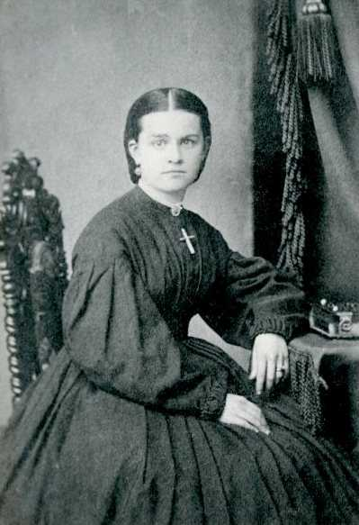 Black and white photograph of Mary T. Hill, c.1864–1867.