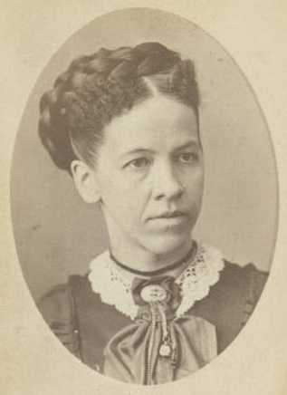 Black and white photograph of Julia Ann Sears, c.1872.