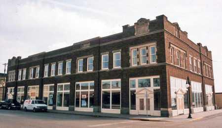 Color image of the K. J. Taralseth Company Building, Marshall County, c.2002.