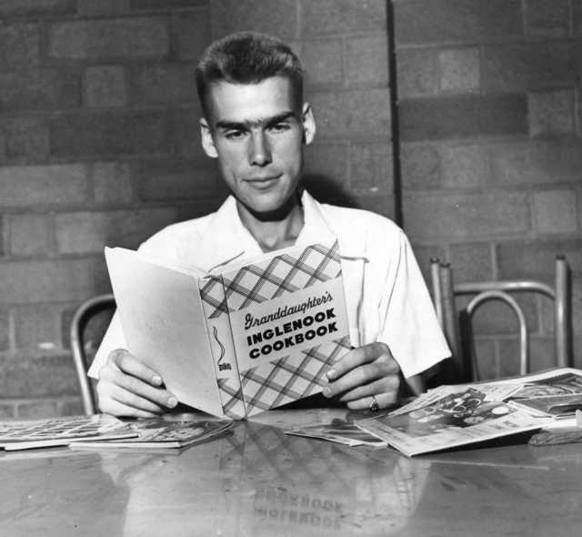 Black and white photograph of volunteer Harold Blickenstaff, c.1944.