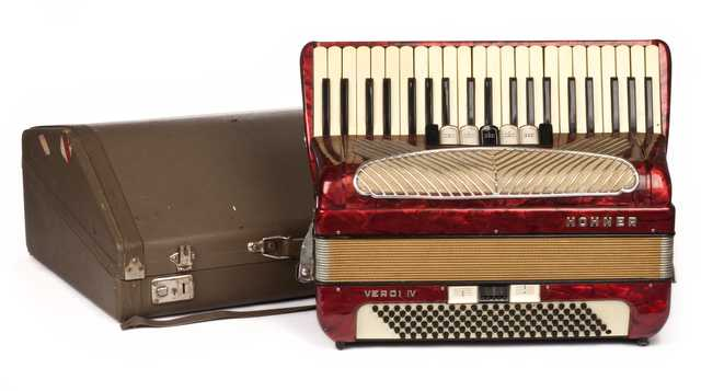 Photograph of Coya Knutson's accordion