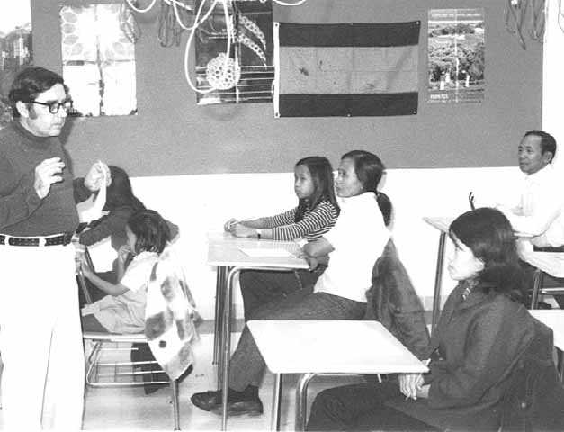 English class for Southeast Asian refugees