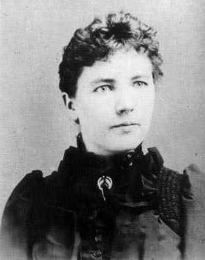 Black and white photograph of Laura Ingalls Wilder, c.1894.
