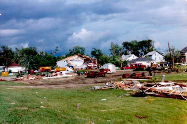 The town of Lake Wilson in the aftermath of the Chandler–Lake Wilson Tornado, June 1992.