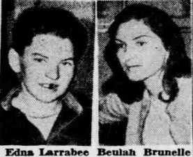 Edna Larrabee and Beulah Brunelle