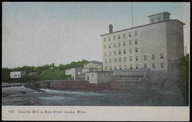 Pillsbury Lincoln Mill on the Rum River in Anoka, Minnesota