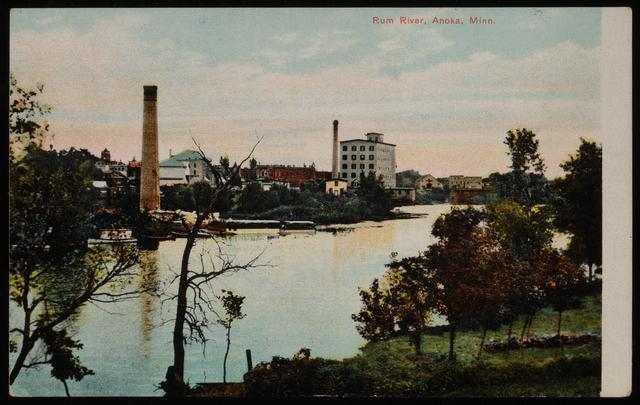 Pillsbury Lincoln Mill and the Rum River, Anoka, Minnesota