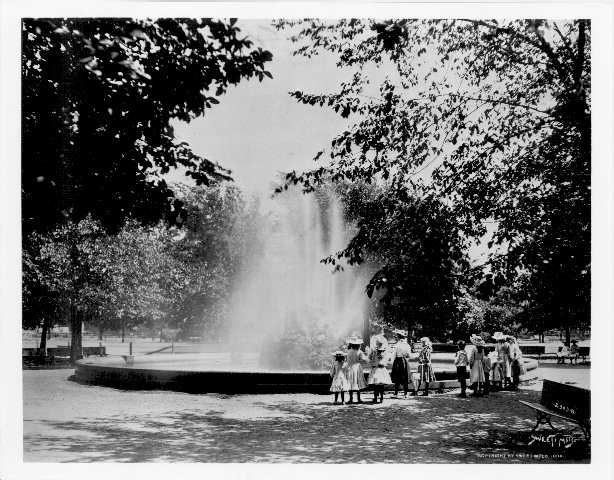 Black and white photograph of Logan Park, Minneapolis.
