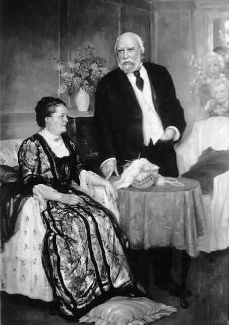 Black and white photograph of James J. Hill and Mary T. Hill, c.1915.