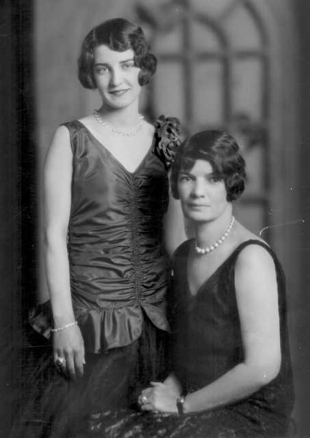 Photograph of Marion Fawcett and Viva Claire Meyers