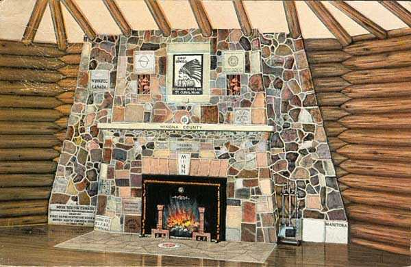 Photograph of The Fireplace of States, Bemidji Tourist Information Center