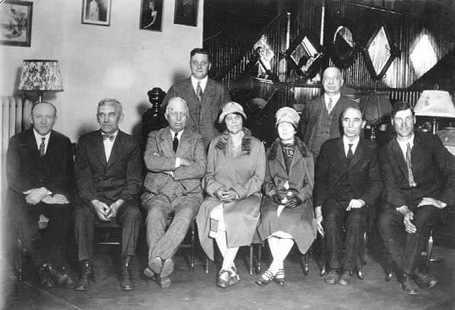 Members of the Board of Education in Hastings (Dakota County), 1927. Photograph by A. F. Raymond.