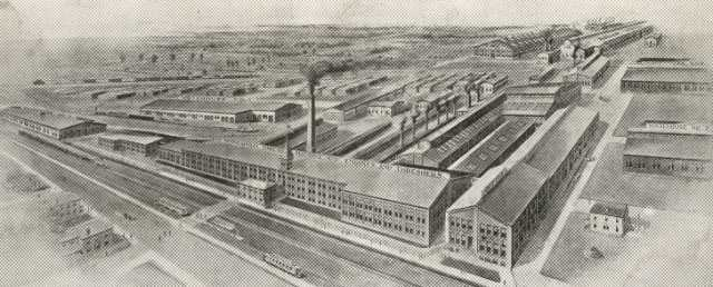 Black and white photograph of Minneapolis Threshing Machine Company Plant, Hopkins, 1908.