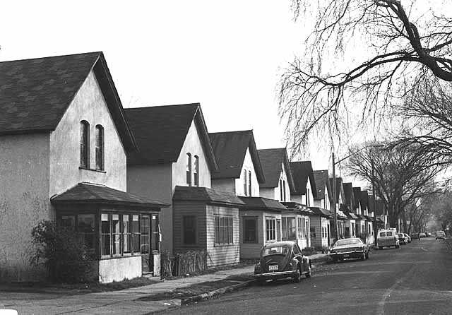 Black and white photograph of Milwaukee Avenue, 1974.
