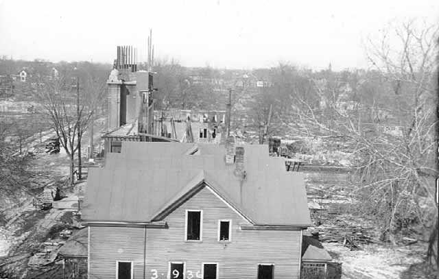 Black and white photograph of Sharei Zedeck Synagogue, Minneapolis, 1936.