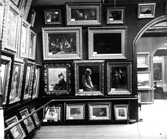 Interior view of the Walker Art Gallery (later called the Walker Art Center)