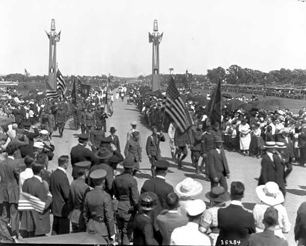 Procession during Victory Memorial Drive dedication ceremony
