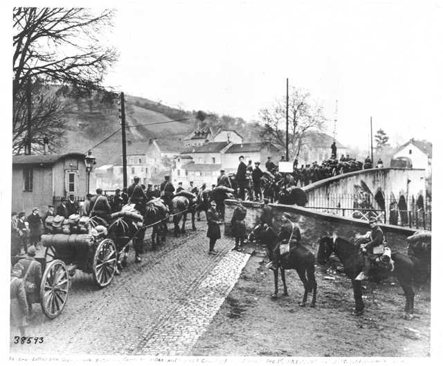 151st Field Artillery crossing the Sauer River