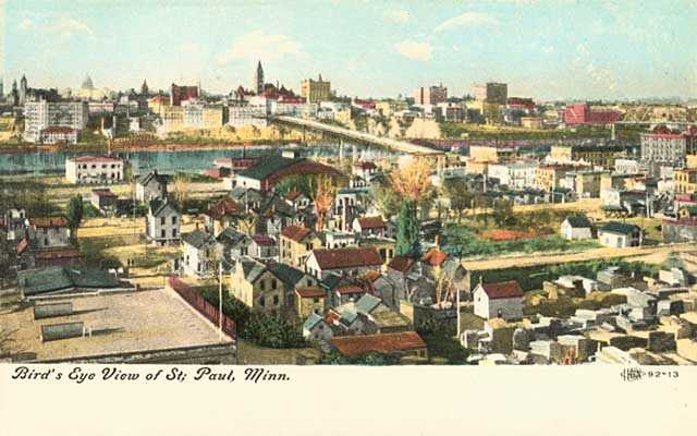Color postcard view of the Flats, 1910.