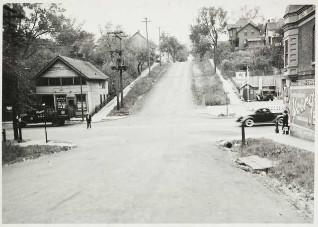 Looking south on Arundel from Rondo Avenue Description: Looking south on Arundel from Rondo, ca. 1940.