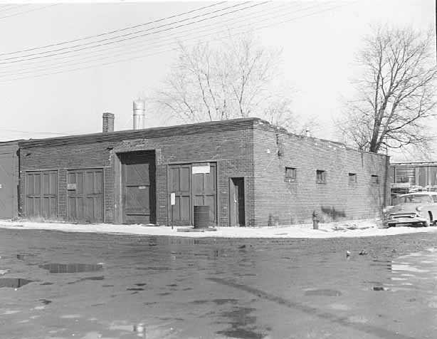 Black and white photograph of Economics Laboratory, 144–146 South Livingston Avenue, St. Paul, ca. 1955.
