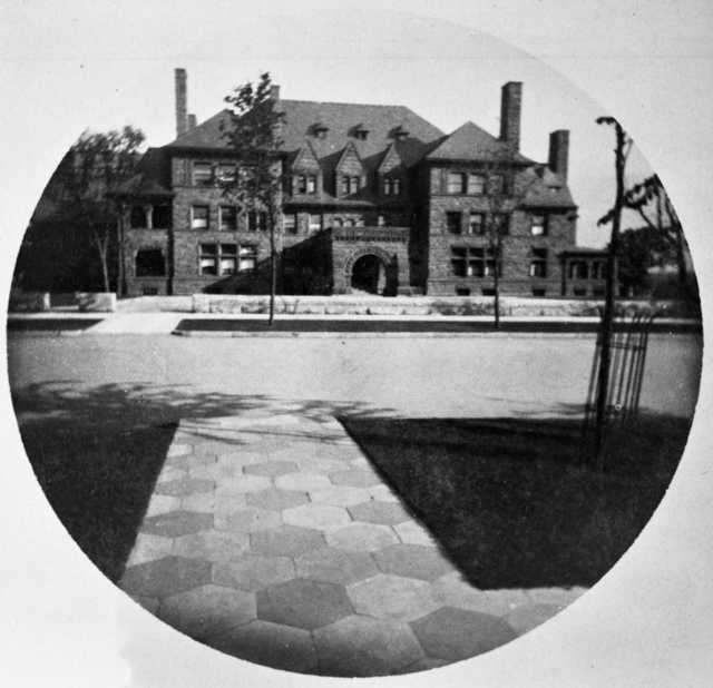 Black and white photograph of the James J. Hill House, 240 Summit, St. Paul, c.1891.