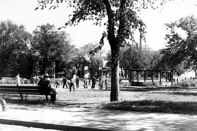 The last known photograph of St. Paul's Central Park in use as a park, 1960.