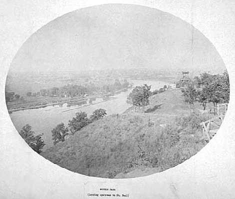 Black and white photograph of Mounds Park, St. Paul, c.1890s.
