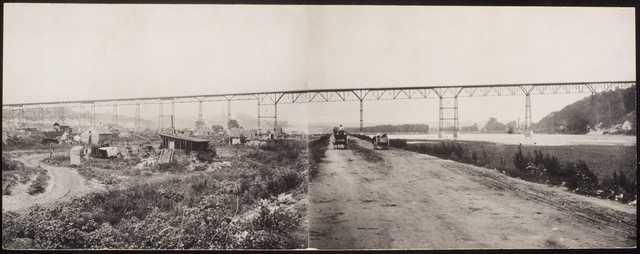 Black and white photoprint of High bridge c.1889.