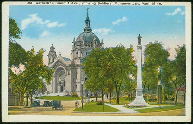 Cathedral of St. Paul and the Soldiers and Sailors Monument