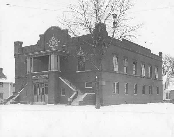 Black and white photograph of the St. Paul Hebrew Institute, Kentucky Street, 1921.