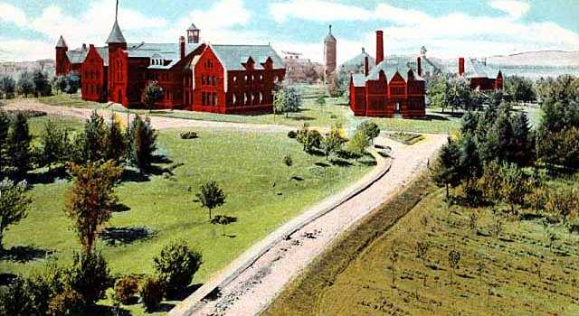 Color drawing of the State Public School in Owatonna, c.1906.