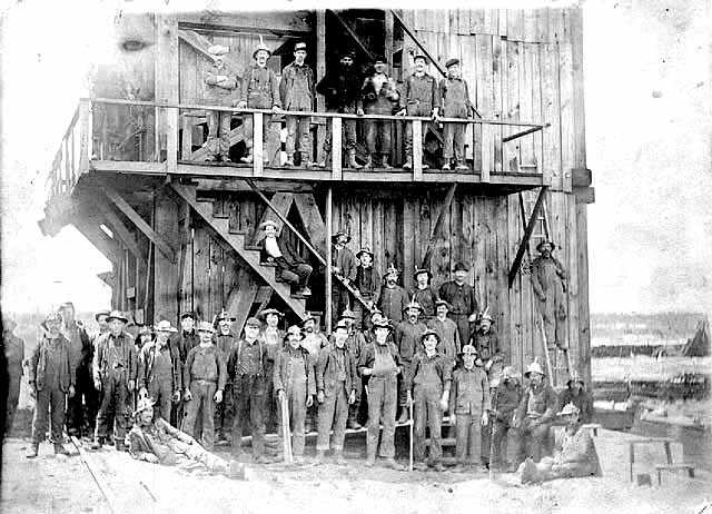 Miners at Troy Mine outside the town of Eveleth
