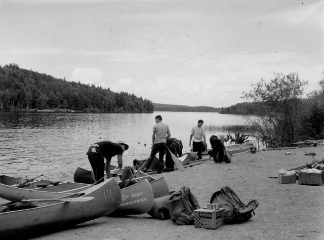 Canoeists at Moose Lake Landing