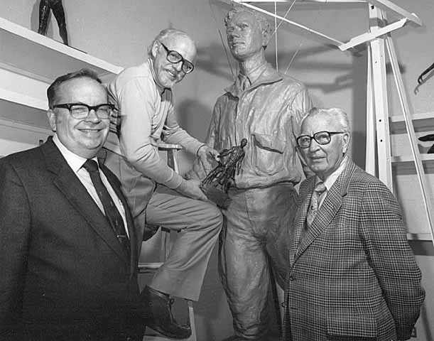 Paul Granlund with Russell Fridley and Elmer L. Andersen