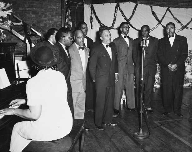 Black and white photograph of the Wheatley Aires, Phyllis Wheatley Community Center, ca. 1950.